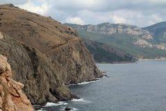 Crimean mountains near Balaklava, Sevastopol Royalty Free Stock Image