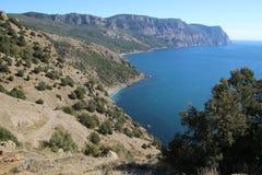 Crimean mountains near Balaklava, Sevastopol Stock Photo