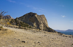 Crimean mountains in near the New world. Royalty Free Stock Images