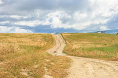 Crimean mountains, plateau. The road to the sky, summer 2011 Stock Photo