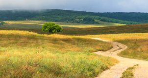 Crimean mountains, plateau, he road to the sky Stock Photography