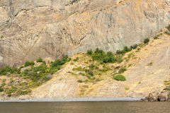 Crimean mountains and the sea Stock Photo