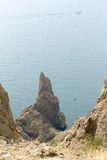 Crimean mountains and the sea Royalty Free Stock Photography
