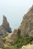 Crimean mountains and the sea Royalty Free Stock Images