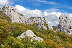 The Crimean mountains and sky Royalty Free Stock Photos