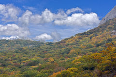 The Crimean mountains and sky Royalty Free Stock Image