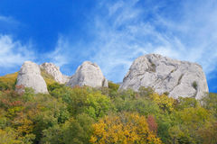 The Crimean mountains and sky Stock Photos