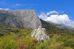 The Crimean mountains and sky Stock Photo
