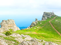Crimean mountains at the sunny summer day. Stock Photos