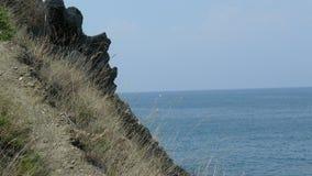 Crimean mountains. View on crimean mountain & sea Royalty Free Stock Photo