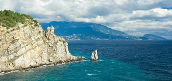 Crimean panoramic landscape near Yalta Royalty Free Stock Photo