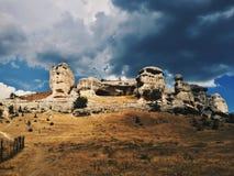 Crimean rocks. Bakhchisaraj town, Crimea Stock Image