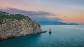 Crimean sanset landscape near Yalta Royalty Free Stock Image