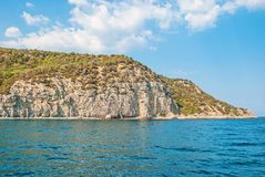 Crimean seascape. Summer Crimean seascape with rock royalty free stock images