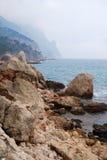 Crimean seashore in off-season Royalty Free Stock Images