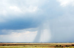 Crimean steppes in the impending storm. Rain Royalty Free Stock Photos