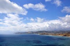 Crimean summer landscape under clouds in journey stock photography