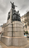Crimean War Memorial, London, UK. A view of the Crimean War Memorial in Central London. This Memorial commemorates the Allied victory in the Crimean War of 1853 Stock Photos