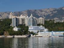 crimeia Complexo do hotel em Yalta Fotografia de Stock Royalty Free