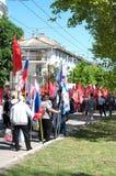 Crimeia, 09/05/2015 de Victory Parade 70 anos de Victory Day Fotografia de Stock