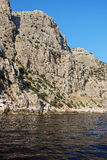 crimeia Montanhas altas e precipícios íngremes Fotos de Stock