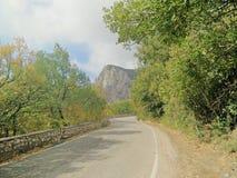 Crimeia na estrada Fotos de Stock Royalty Free