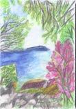 Crimeia na primavera ilustração stock