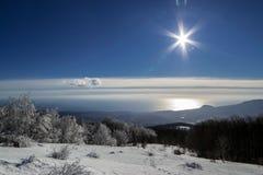 Crimeia no inverno imagens de stock royalty free