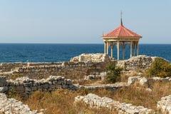Crimeia, Tauric Chersonesos Uma capela no lugar de um batismo o Imagens de Stock Royalty Free