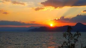 A Crimeia Tempo do por do sol Fotos de Stock Royalty Free