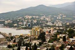 Crimeia Yalta, Ucrânia, paisagem da opinião da cidade imagem de stock royalty free