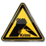 Crimen, asesinato y cuchillo ilustración del vector