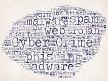Crimen cibernético ilustración del vector