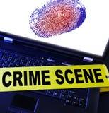 Crimen de la tecnología Imagen de archivo