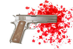 Crimen del arma Imágenes de archivo libres de regalías