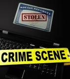 Crimen del hurto de identidad Foto de archivo libre de regalías
