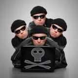 Crimen en línea Imagen de archivo libre de regalías