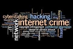 Crimen en línea Fotografía de archivo libre de regalías