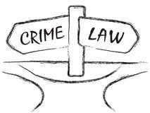 Crimen y ley Imágenes de archivo libres de regalías
