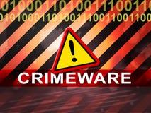 Crimeware Digital Cyber Hack Exploit 2d Illustration stock illustration