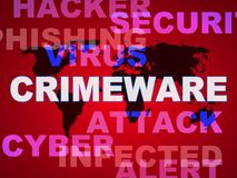 Crimeware Digital Cyber Hack Exploit 2d Illustration vector illustration