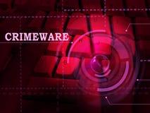Crimeware Digital Cyber Hack Exploit 3d Illustration royalty free illustration