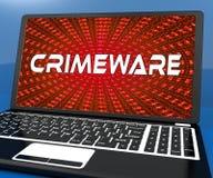Crimeware Digital Cyber Hack Exploit 3d Rendering stock illustration