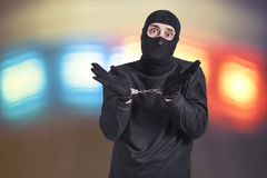 Criminal arrestado foto de archivo