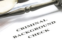 Criminal background check Stock Photos