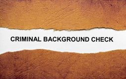 Criminal background check Royalty Free Stock Images