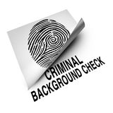 Criminal Background Check Royalty Free Stock Photos