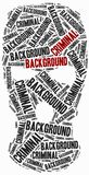 Criminal background check. Word cloud illustration. Royalty Free Stock Image