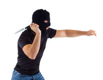 Criminal with balaclava Stock Image
