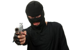 Criminal in black mask Stock Image
